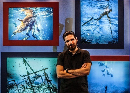 Stefanos Kontos - Making the art into adventure. The underwater Gallery